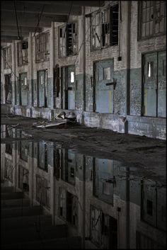 Reflection, abandoned warehouse.
