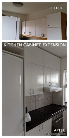 KITCHEN CABINET EXTENSION IKEA BILLY HACK