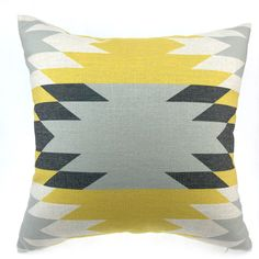 Kilim Pillow, Turkish pillow, Aztec pillow, Tribal Pillow Cases, Pillow Covers, Geometric Pillow Cover,  yellow pillow, black pillow 18x18 by HomeDecorYi on Etsy https://www.etsy.com/listing/234224994/kilim-pillow-turkish-pillow-aztec-pillow
