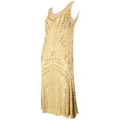 Preowned 1920's Beaded Silk Flapper Dress