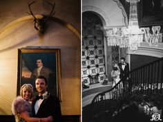 Bride and Groom portrait shoot grand and epic  The bride wore a Vivienne Westwood wedding dress. The groom wore Jimmy Choo shoes.  Uber-stylish it was oozing with winter-wedding chic! Held in the opulence of Ripley Castle just outside of Harrogate,  banquet style wedding breakfast before having one of the best DJ set-lists ever to party out the Christmas/New Year party season wedding in style!   Want to See more?   Visit www.jamesandlianne.com  Yorkshire Based Wedding Photographers