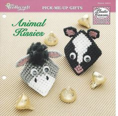 CUTE KISSES ANIMAL PARTY FAVORS ~ PLASTIC CANVAS PATTERN ~ FREE SHIPPING