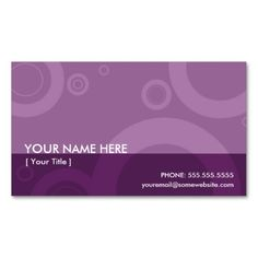 purple rings business card template