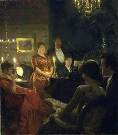 Peder Severin Krøyer, un dueto de 1887, la galería nacional de Dinamarca