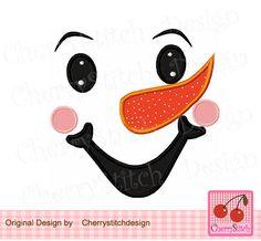 Snowman boy face,Snowman boy, Snowman embroidery, Winter Digital Applique -approxiamte 4x4 5x5 6x6 inch-Machine Embroidery Applique Design by CherryStitchDesign on Etsy
