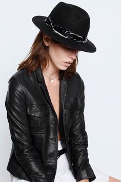 This hat is only available in Europe and that's not OK with K Hendo.  Steva Hat, black, Zadig & Voltaire
