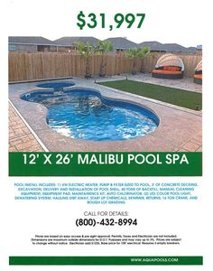 The Aqua Group Fiberglass Pools & Spas Backyard Pool Landscaping, Backyard Pool Designs, Small Backyard Pools, Small Pools, Small Fiberglass Pools, Spool Pool, Viking Pools, Aqua Pools, Pool Cost