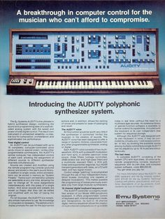 E-mu Audity Vintage Synth, Analog Synth, Jean Michel Jarre, Old School Music, Drum Machine, Music Images, Electronic Music, Musical Instruments, Musicals