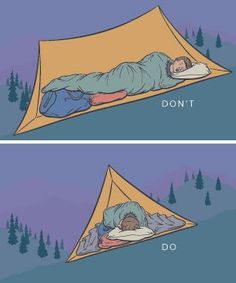How to pitch a tent and sleep in comfort under the stars