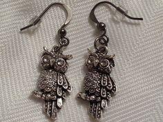 Owl Earrings  Geek & Nerd Cute Accessory by RhoxButtons on Etsy, $6.00
