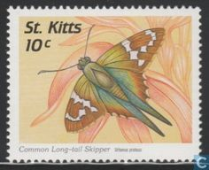 Saint Kitts - Butterflies 1997 Stamp World, Stamp Collecting, St Kitts And Nevis, Postage Stamps, Saints, Butterfly, Board, Illustration, Design