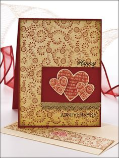"Simple stamp-and-punch techniques make quick work of a lace-trimmed card brimming with romantic sentiment. This e-pattern was originally published in the January 2011 issue of CardMaker magazine. Stamps not included. Size: 4 1/4"" x 5 1/2"".Skill Level: Easy"