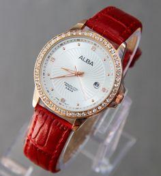 Jam Tangan Alba Leather (Wanita) Kw Super  Spek: diameter 3,8cm tanggal aktif free box