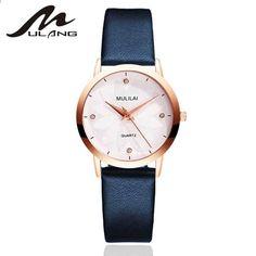 71e89bbe3ba5 MULILAI Marka Moda Damska Zegarki Skórzane Damskie Zegarek Kwarcowy Kobiety  Cienki Casual Pasek Zegarek Reloj Mujer