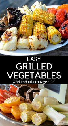 The easiest side dish you'll ever make on the grill! When I'm barbecuing, at the cottage or in the city, I often toss my favourite vegetables onto the grill. Not only are they easy, they are delicious as well, with very little preparation and absolutely no mess. This GRILLED VEGETABLE MEDLEY has something for everyone! #easyvegetablerecipe #easyrecipe #summerrecipe #grillingrecipe #weeknightdinner #cottagerecipe #weekendatthecottage #vegetarianrecipe #barbecuedvegetable