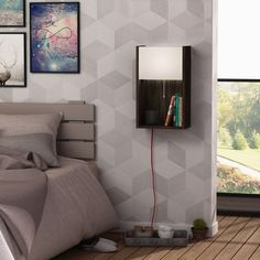 Be extraordinary and handy. Bling wall shelf with lighting's multifuntional use will easy your life. Wall Shelf, Night Lamp, Stunning display… All In One