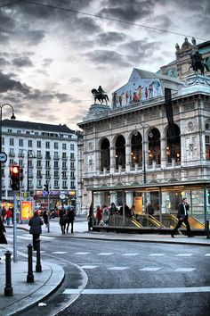 Vienna, Austria - photo reminds me of the atmosphere of the city, remember great variety of food from all over the world and great shops.