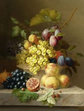 HD Canvas Print Oil painting Picture Classical Still Life Fruits on canvas