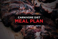 We've listed out a daily Carnivore Diet meal plan based on breakfast lunch and dinner, along with the amounts you'll need. This is based on an average height and size person. Beef Kidney, Beef Liver, Bbq Beef Ribs, Grilled Trout, Lunches And Dinners, Meals, Meat Diet, Fried Pork Chops