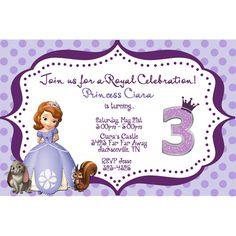 princess sophia invitations | Princess Photo Birthday Invitation Purple : Birthday Party Invitations ...