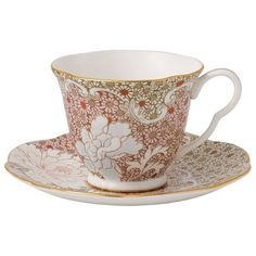 Wedgwood Daisy Tea Story Teacup and Saucer ($49) ❤ liked on Polyvore featuring home, kitchen & dining, drinkware, wedgwood tea cup, tea saucer, wedgwood, tea cups and saucers and floral tea cups