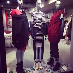 #window #aw14 #jeanpaulgaultier #fur #eco #fashion #love #like #black #bordeaux #shoponline #verona #style