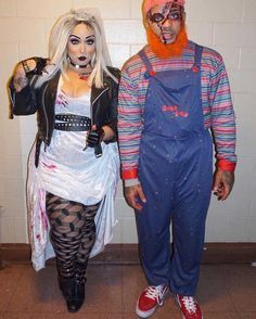 DIY Plus Size Costumes for Her Inspiration & Accessories: DIY Sexy Curvy Plus Size Bride of Chucky Halloween Couple Costume Idea Bride Of Chucky Halloween, Bride Of Chucky Costume, Bride Of Frankenstein Costume, Halloween Costumes Plus Size, Couples Halloween, Diy Couples Costumes, Plus Size Costume, Hallowen Costume, Fete Halloween