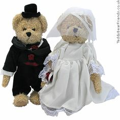 Wedding Teddy Bears | Wedding bears Bukowski Rose and Jack