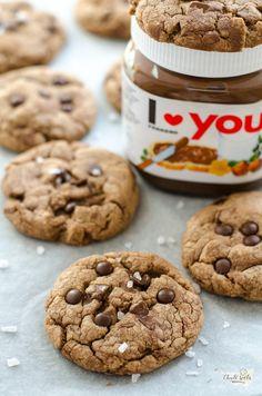 čokoládové cookies s nutellou