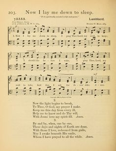 Now I lay me down to sleep, I pray the Lord my soul to keep - Hymnary.org
