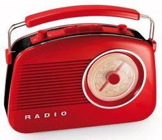 Radio Roja Retro Años 50 Addex Design http://www.tutunca.es/radio-roja-retro-addex-design