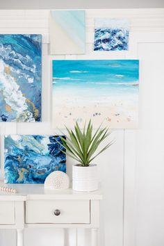 How to paint a beach scene art canvas