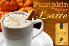 PUMPKIN SPICE OG LATTE • 1/2 cup unsweetened vanilla almond milk • 3 tablespoons pumpkin puree • 1 teaspoon pumpkin pie spice • 1/2 teaspoon vanilla • 1 sachet of #OGLatte ( or #OGBlackCoffee with cream) • sprinkle of cinnamon www.loavesandfish.myorganogold.com