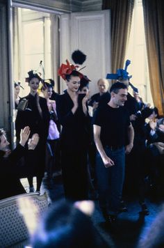 John Galliano Fall 1994 Ready-to-Wear Fashion Show - Shalom Harlow, John Galliano