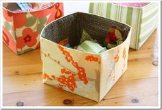 The Sometimes Crafter Tutorial :: Fabric Scrap Basket