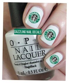 """Nail Starbucks"" by kyannac on Polyvore"