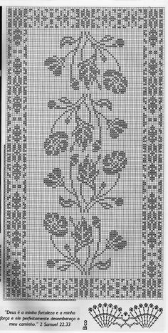 @nika Crochet Patterns Filet, Crochet Tablecloth Pattern, Crochet Curtains, Crochet Motif, Crochet Cross, Thread Crochet, Crochet Dollies, Fillet Crochet, Crochet Table Runner