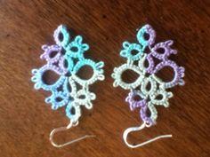 earrings.  Size 10 thread, shuttle tatted.