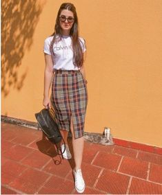 Fashionable Work Outfits Ideas For 2019 Long Skirt Outfits, Casual Work Outfits, Modest Outfits, Classy Outfits, Stylish Outfits, Outfit With Skirt, Ootd Summer Casual, Black Denim Skirt Outfit, Cool Girl Outfits