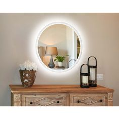 Innoci Usa Electric LED Lit Round Oval Mirror