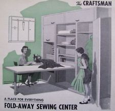How to Build BUILT-IN SEWING / CRAFT / HOBBY CENTER w Fold-away TABLE DIY ARTCLE