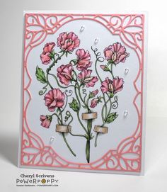 Power Poppy, Marcella Hawley, Sweet Pea Show, Instant Garden Digital Image, CherylQuilts, Designed by Cheryl Scrivens, January 2017
