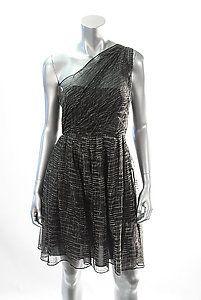 ALICE & OLIVIA GWENDLYN ONE SHOULDER DRESS Size 2  Retail: $396  PlushAttire.Com Price: $99  75% OFF RETAIL!  #fashiondeals