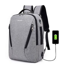 Anti-theft Backpack Smart Charging Usb College Student Computer Bag Men's Outdoor Sports Camping Hiking Trave Hunting Bags - Anti-theft Backpack Smart Charging Usb College Student Computer Bag Men's Outdoor Sports Camping - Laptop Rucksack, Computer Backpack, Computer Bags, Laptop Bag, Hunting Bags, Anti Theft Backpack, Diaper Bag Backpack, Diaper Bags, Canvas Backpack