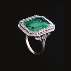 Emerald Ring 1910 Sotheby's