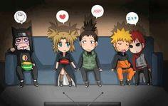 haha poor konkero. lol. we got temari x shikamaru and then naruto and gaaras bro-mance going on. lol. its ok konkero.
