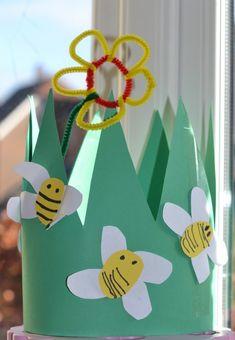 spring headband craft ideas for kids Spring Crafts For Kids, Summer Crafts, Kids Crafts, Art For Kids, Crown Crafts, Headband Crafts, Creative Arts And Crafts, Creative Kids, Spring Art
