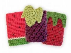 Fundas de crichet para móviles. ¡Muy sabrosas y frescas! - translated: Crochet covers mobile. Very tasty and fresh!