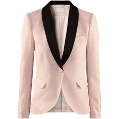 H&M Jacket (1.695 RUB) Jacket with satin lapels, one breast pocket, pockets with a flap at the front, and a vent at the back. Lined. 3% elastane, 64% polyester, 33% viscose. Dry-clean only.