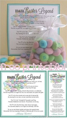 Christian easter basket alternative candy favor bags religious easter mm legend free printable easter basket ideaseaster negle Gallery